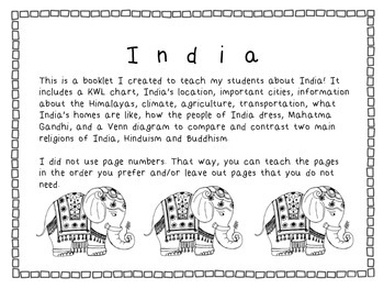India Booklet