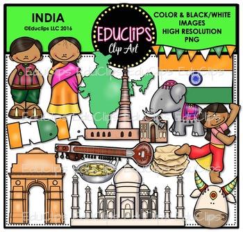 India Clip Art Bundle