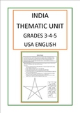 India Thematic Unit For Use With Grades 3-4-5