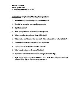 India and China Study Guide