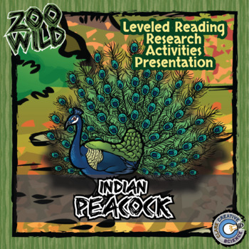Indian Peacock -- 10 Resources -- Coloring Pages, Reading