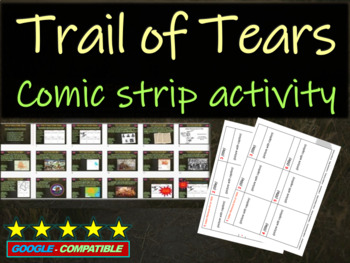 Indian Removal Act & Trail of Tears Comic Strip Activity -