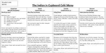 Indian in the Cupboard Activity Menu