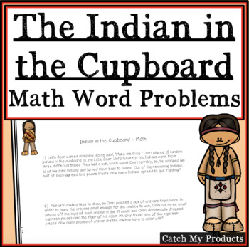 Indian in the Cupboard: Math Word Problems for Novel by Ly