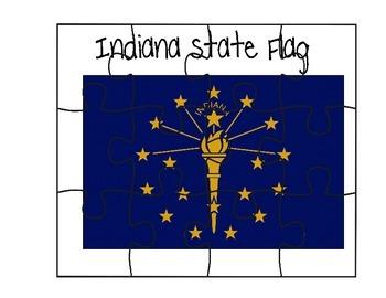 Indiana Flag Puzzle