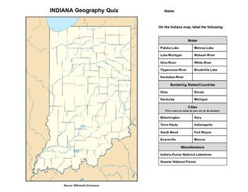 Indiana Geography Quiz