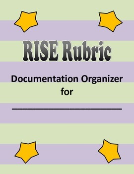 Indiana RISE Rubric Documentation Organizer Tabs DOMAIN 2