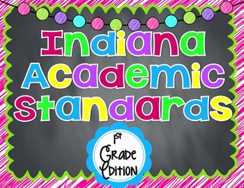 Indiana Academic Standard Posters for 1st Grade