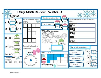 Indiana Academic Standards Daily Math Review 2nd Grade Win