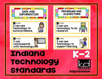 Indiana Computer Science Standards for Grades K, 1, 2