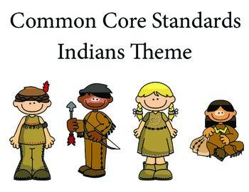 Indians Kindergarten English Common core standards posters