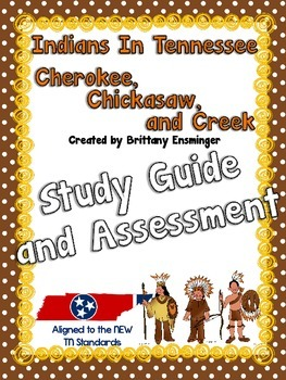 Indians in Tennessee {Cherokee, Chickasaw, Creek} Study Gu