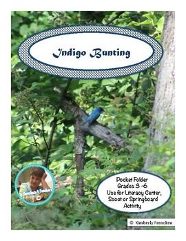 Indigo Bunting: Non-Fiction Literacy Center or Close Readi
