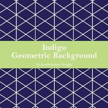Indigo Geometric Background
