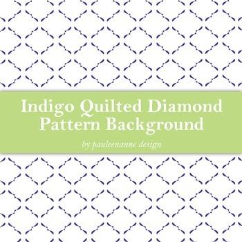 Indigo Quilted Diamond Pattern Background