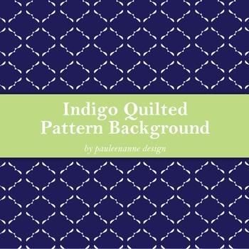 Indigo Quilted Pattern Background