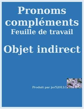 Pronoms compléments Indirect object pronouns worksheet 9