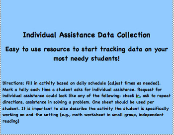Individual Assistance Data Collection