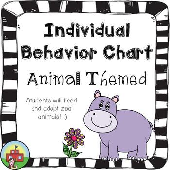 Individual Behavior Chart-Animal Themed