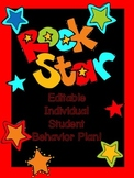 Individual Behavior Plan Rock Star theme (editable)