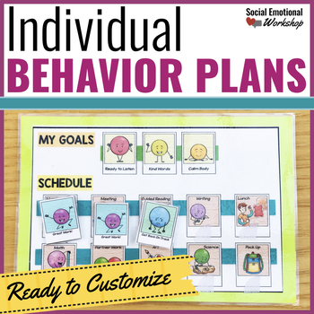 Individual Behavior Plan Pack with Editable Plans!