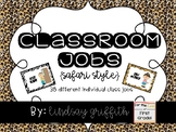 Individual Classroom Jobs {Safari Theme}