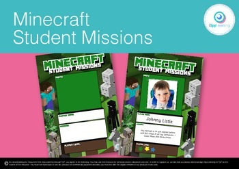 FREEBIE Minecraft Student Learning Targets/Goals for Readi