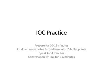 Individual Oral Commentary IOC PPT for IB International Ba
