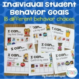 Individual Student Behavior Goal Tracking Charts