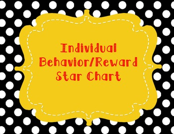 Individual Student Behavior Star Chart