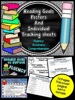 Individual Student Reading goals - Posters and Tracking sheets