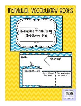 Individual Vocabulary Book - Version 2