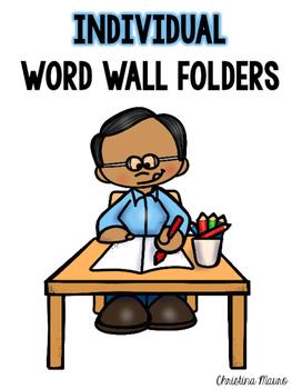 Individual Word Wall Folders