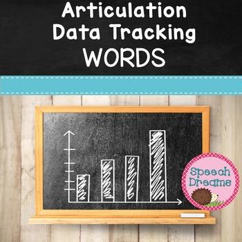 Articulation Progress Monitoring Data Word Level {Speech Therapy}