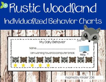 Woodland Animal Reward Charts for Behavior Management