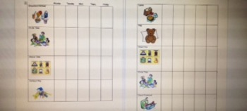 Individualized Picture Schedule
