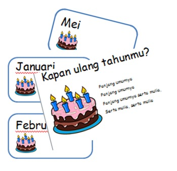 Indonesian Birthday Calendar