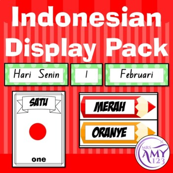 Indonesian Display Pack - Numbers, Colours & Calendar