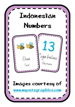 Indonesian Number Posters