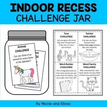Indoor Recess Activity Jar