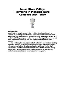 Indus River Valley: Plumbing in Mohenjo-Daro compare with