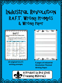 Industiral Revolution R.A.F.T. Writing Prompts and Paper