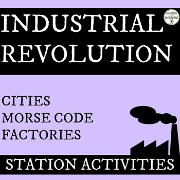 Industrial Revolution Station Activities including morse code