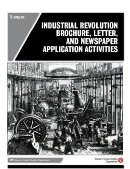 Industrial Revolution Brochure, Letter, and Newspaper Appl