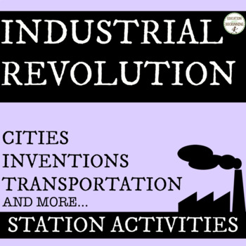 Industrial Revolution Station Activities Bundle (SAVE)