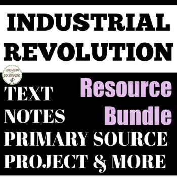 Industrial Revolution Interactive Notebook, Activities, pr