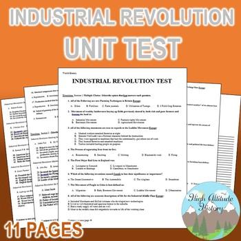 Industrial Revolution Unit Test / Exam / Assessment