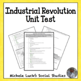Industrial Revolution Unit Test Assessment M/C and Open Response