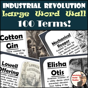 Industrial Revolution Word Wall - 100 Definitions & Images