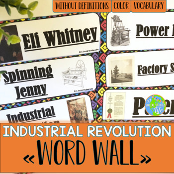 Industrial Revolution Word Wall without definitions